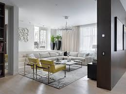 Grey And White Accent Chairs Modern Moscow Apartment By Alexandra Fedorova Integrated Loft