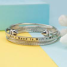 bangles bracelet images Bangle set bracelets all i need is within me stainless steel jpg