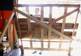What Is The Width Of A King Size Headboard by How To Build A Wood Pallet Headboard U2014 The Thinking Closet