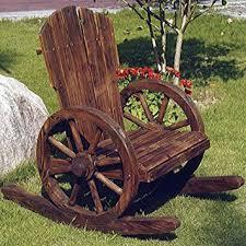 Garden Rocking Chair Uk Cartwheel Solid Wood Garden Rocking Chair Burntwood Co