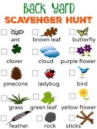 backyard treasure hunt free printable backyard scavenger hunt checklist with visuals for