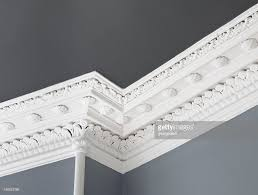 traditional ceiling cornice moulding stock photo getty images