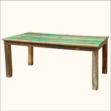 modern wood round dining table square blue and black color scheme distressed wooden dining table