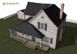 old farmhouse exterior 3d model cgtrader