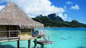 seychelles beach huts wallpaper