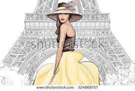 fashion woman model black hat vector stock vector 396944134