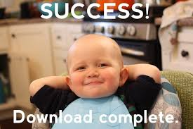 Success Meme Baby - success download complete smug pooing baby know your meme