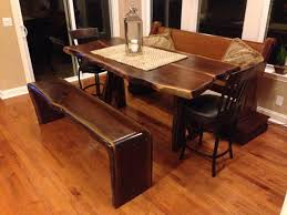Dining Room Table With Bench Seat Hand Made Waterfall Edge Walnut Dining Bench Seats 3 4 By 1000