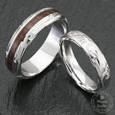 wedding rings couple images Pair of 4 6mm sterling silver hawaiian jewelry couple wedding rings wi jpg