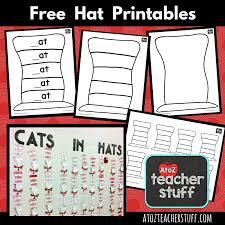 hat printables dr seuss cat hat hats