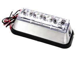 8891006 buyers clear rectangular strobe light led