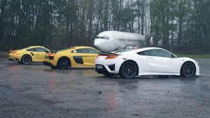 nissan gtr vs audi r8 chris harris drives honda nsx vs audi r8 v10 vs porsche 911 turbo