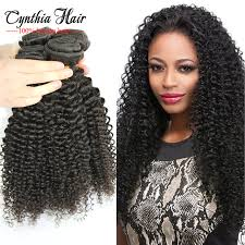 curly black hair sew in afro kinky curly natural hair sew in extensions 4 bundle deals