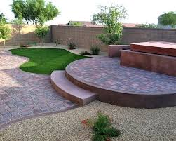 Raised Patio Construction Backyard With Pavers And Grass Backyard Patio Pavers Ideas