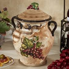 grape canister sets kitchen tuscan kitchen canisters great accessories all about home design