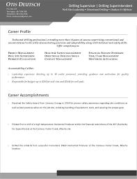 Horizontal Resume Deutschotis Drilling Supervisor Resume Od Edit