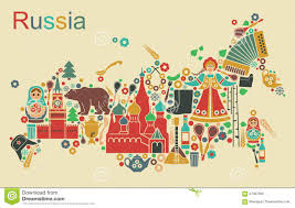 Russia Map Map Of Russia Stock Vector Illustration Of Russia Matreshka
