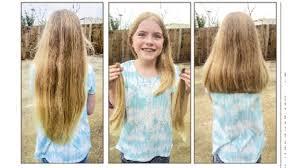 cut and inch off hair horseshoe bend s zana mcwhorter donates hair to help kids the