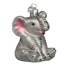 world elephant glass blown
