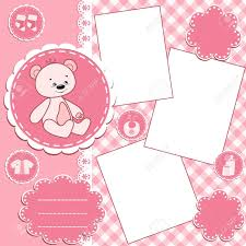 Photo Albums For Babies Baby Album Page Royalty Free Cliparts Vectors And Stock