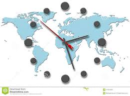 Time Zone Map World Clock by Earth Time Clock Hands On World Map Stock Photos Image 14457693