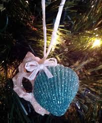 glittered seashell ornaments may arts wholesale ribbon company