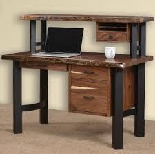 live edge computer desk live edge rustic desks amish hutch desk organizers cabinfield