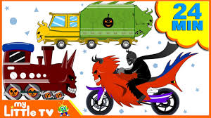 kids halloween clipart monster bike race bike chase car wash videos for children