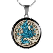 luxury necklace images Dragon guardian in triquetra luxury necklace the moonlight shop jpg