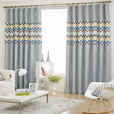 Blue And Yellow Curtains Prints Baby Blue And White Print Chenille And Cotton Nautical Kids Curtains