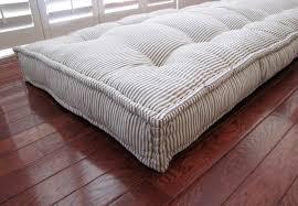 Outdoor Daybed Mattress Custom Cushions Blue Ticking Stripe Mattress