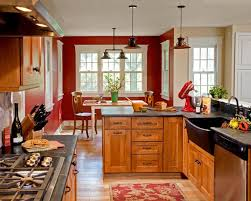 Red Kitchen Pics - kitchen paint colors to match your personality remodeling