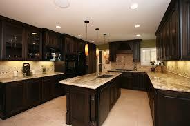 Kitchen With Light Wood Cabinets Black Kitchen Cabinets Dark Floors