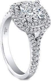 Cushion Cut Halo Diamond Engagement Ring In Platinum Jeff Cooper Double Halo Diamond Engagement Ring Rp1610cu