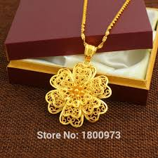 beautiful necklace gold images Buy new arrival beautiful flower pendant necklace jpg