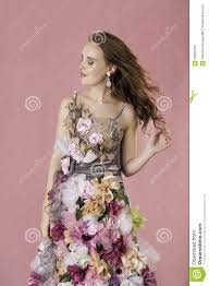 flower dress floral woman in flower dress stock photo image 62850469