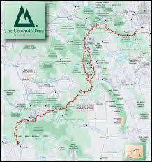 Colorado Ski Areas Map by The Colorado Trail