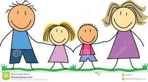 kids drawing happy family stock photo image 28748620