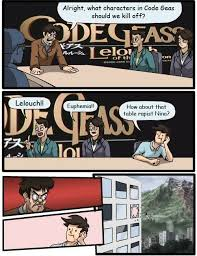 Boardroom Meeting Meme - code geas boardroom suggestion by spinoinwonderland on deviantart