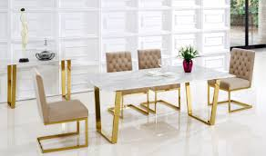 Gold Dining Room by 712 Cameron Dining Room Set In Rich Gold U0026 Beige By Meridian