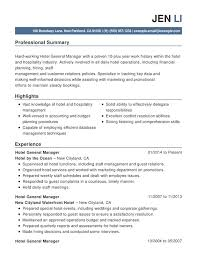 Sample Resume For Hotel Industry by Sample Cover Letter For Hospitality Job