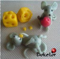 Cake Decorating Figures How To Make Adorable Marzipan Mice Tutorial Baking Day Fondant Pinterest