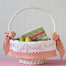 personalized easter basket liner personalized easter basket liner pink and green gingham easter