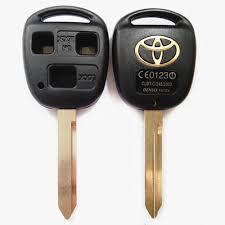 toyota key replacement car key for toyota 3 button remote key fob shell toy47 blade