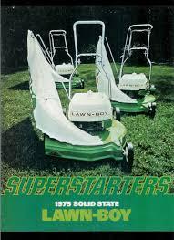 super rare vintage orig factory lawn boy superstarters mower
