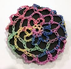 hair nets for buns hair bun cover crocheted in a hair net style color pastels multi