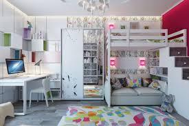 chambre fille avec lit superposé chambre enfant lit mezzanine 3 d233coration chambre lit superpose