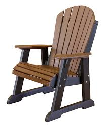 Brown Plastic Adirondack Chairs Poly Heritage Collection