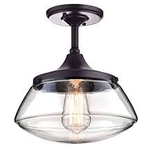 Pendant Lighting Chandelier Claxy Ecopower Vintage Metal U0026 Glass Ceiling Light 1 Lights
