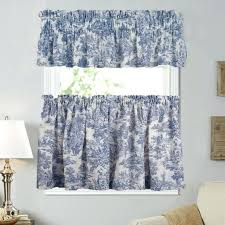 Blue Toile Curtains Valance Toile Valance Curtains Blue Toile Valance Curtains